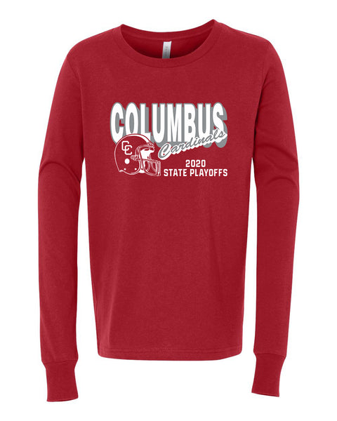 2020 Columbus Football Playoff Youth Long Sleeve Shirt