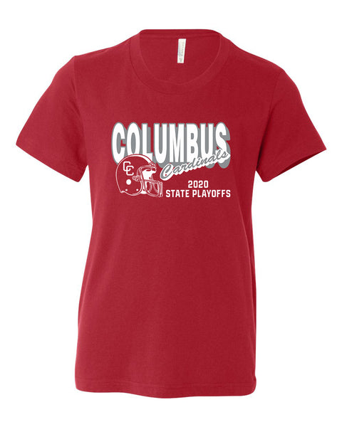 2020 Columbus Football Playoff Youth Short Sleeve Shirt