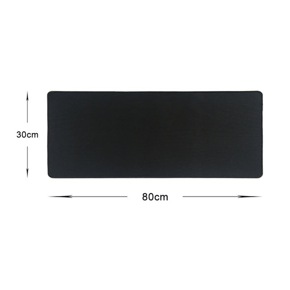 Large Pure Black Gaming Mouse Pad w/ Colorful Lock Edge