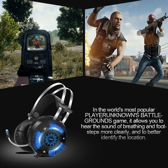 LED Gaming Headphones for Computer Games USB wired