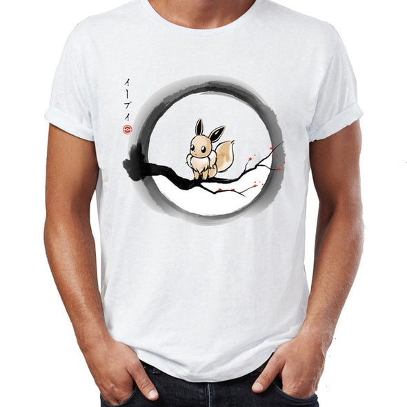 Pokemon Eevee on A Cherry Blossom Tree Gamer Awesome Tee
