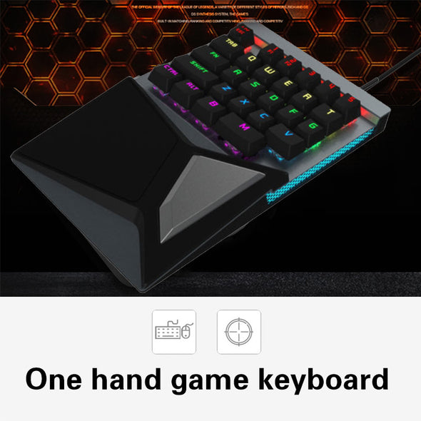 Portable Gaming Keypad Gaming Mousepad LED Backlight Black Computer Keypad