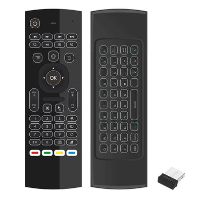 2.4G Backlight Air Mouse Wireless Keyboard 6-Axis Somatosensory Remote Control Motion Sensing Game IR Learning Buttons for Mini PC Smart TV Android TV Box Projector