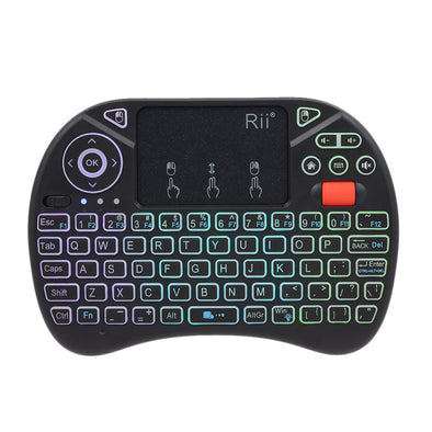 Rii i8X 2.4GHz Backlit Wireless Keyboard Touchpad Mouse Handheld Gaming Remote Control for Android TV BOX Smart TV PC