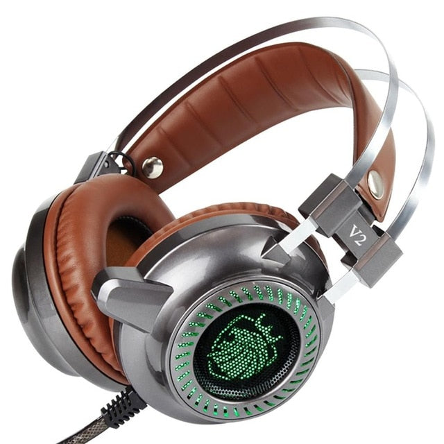 Gaming Noise Cancelling Headphones LED Light