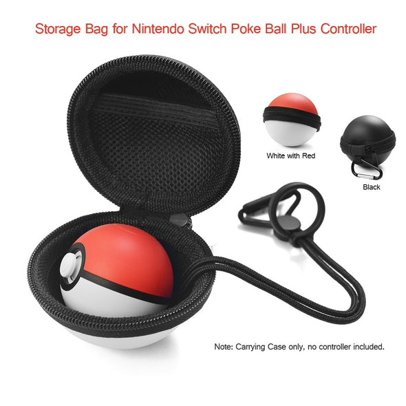 Poke Ball Storage Case for Nintendo Switch Plus Controller with Portable Hook