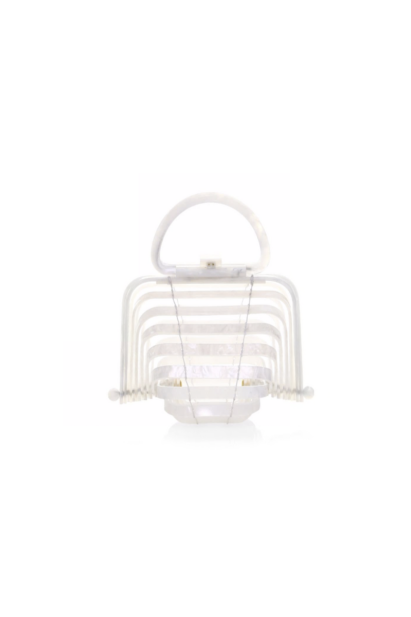 white acrylic cult Gaia bag