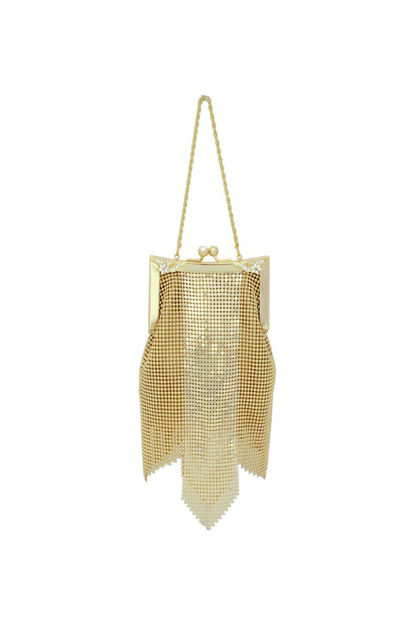 vintage antique gold bag