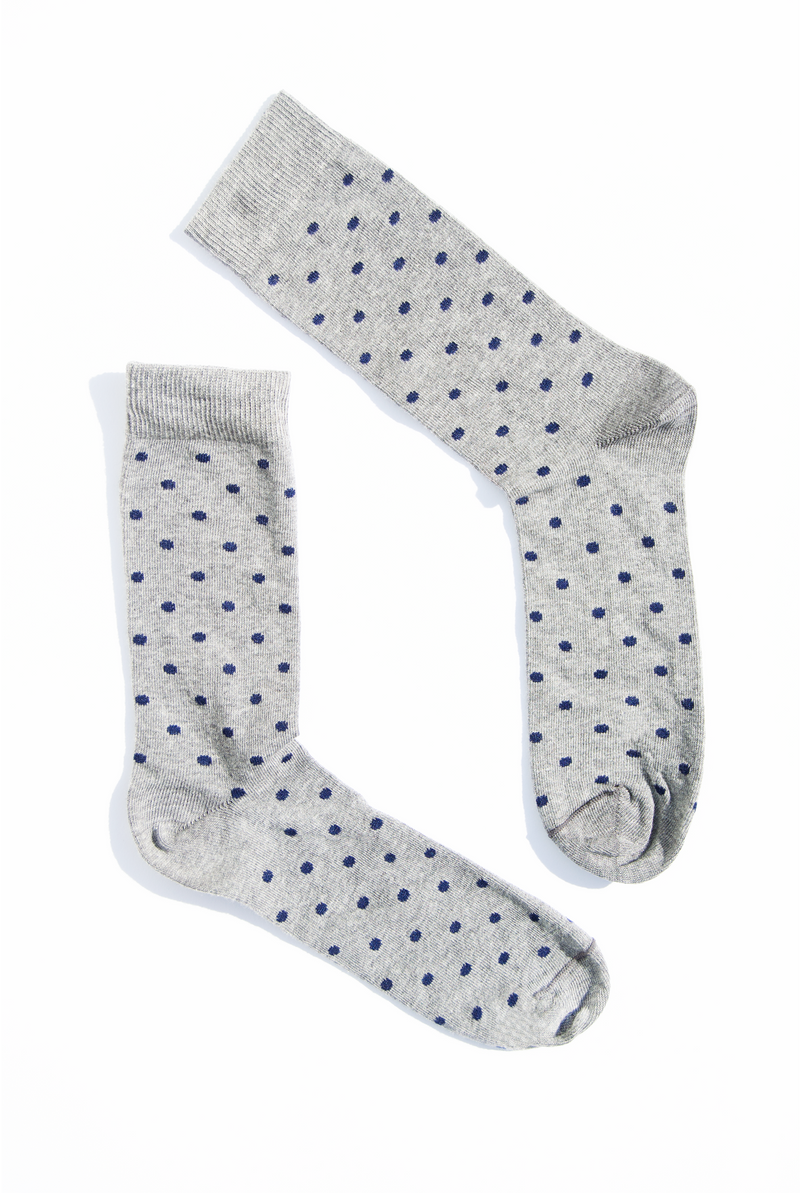 Calcetines Gris Dots