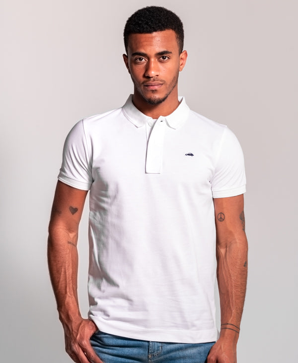 Polo Basico Slim Fit Blanco