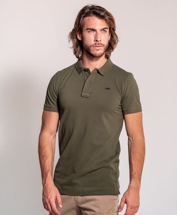 Polo Basico Slim Fit verde