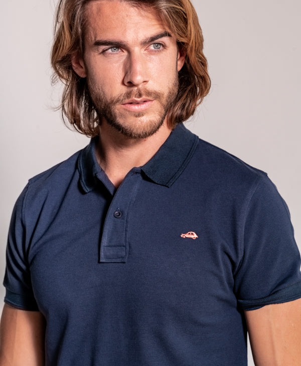 Polo Basico Slim Fit Indigo