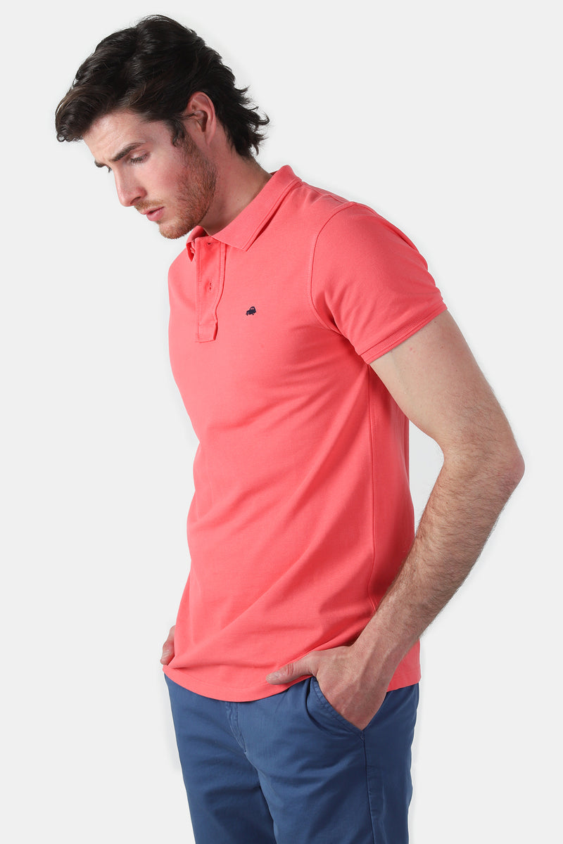 Polo Basico Slim Fit Coral