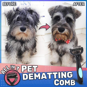 ALL-IN-1 PET DEMATTING COMB