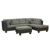 4420 - Microfiber Sectional with storage ottoman - Brown