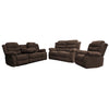 6059 - Reclining Sofa, Loveseat and Chair Set - Brown Fabric