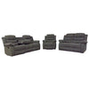 6059 - Reclining Sofa, Loveseat and Chair Set - Grey Fabric
