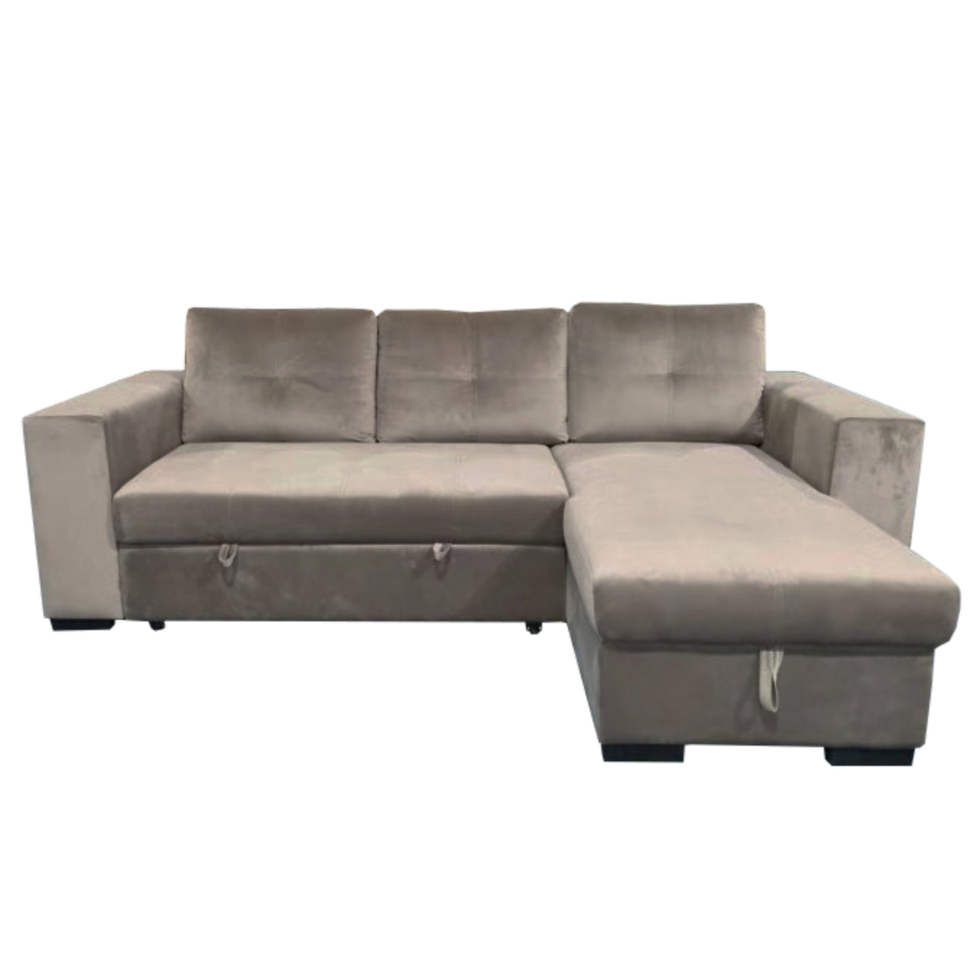 6111 Pull Out Sofa Bed With Storage Ultra Plush Fabric
