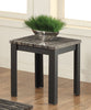 82134 Arabia 2Pc Pk Coffee/End Table Set, Faux Marble & Black
