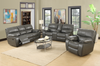 9931 - Power Recline Sofa, Loveseat and chair Black or Grey