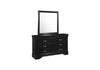 Louis Phillip Dresser and Mirror - Black
