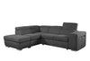 Bertina - Pull-out Sleeper Sectional with Storage Ottoman