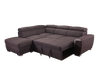 1096 - Pull-out Sleeper Sectional with Storage Ottoman Grey