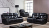SF3100 - Genuine Leather Reclining Sofa Loveseat and Chair With Massage - Brown