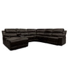 UF212 - Leather-Air Reclining Sectional Brown
