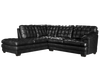 70260 - Leather Aire Sectional With Right or Left Facing Chaise (Ottoman available)
