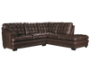 70260 - Brown Leather Aire Sectional With Right or Left Facing Chaise (Ottoman available)