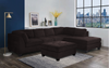 9382 - Soft Fabric Sectional with Matching Ottoman