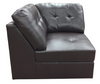 9377 - Leather Aire sectional with Ottoman - Available in Brown and Grey