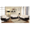 Polaris - Sofa Set Faux Leather - Black