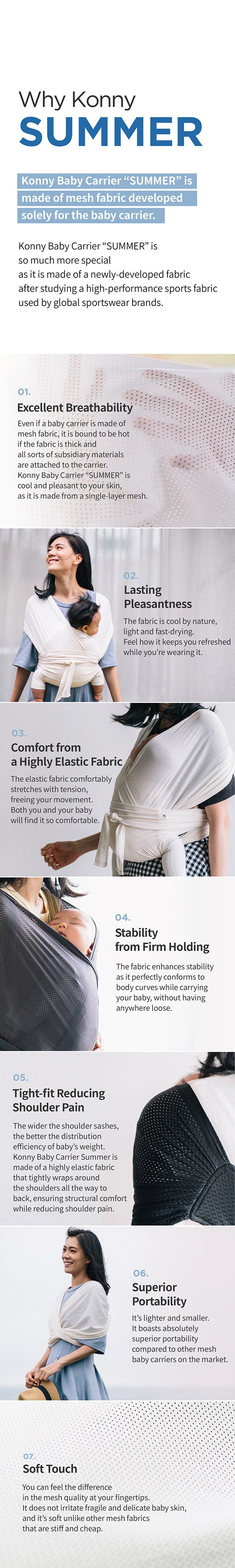 Konny Baby Carrier Summer Cream Color