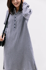 Checked Shirts Nursing Dress