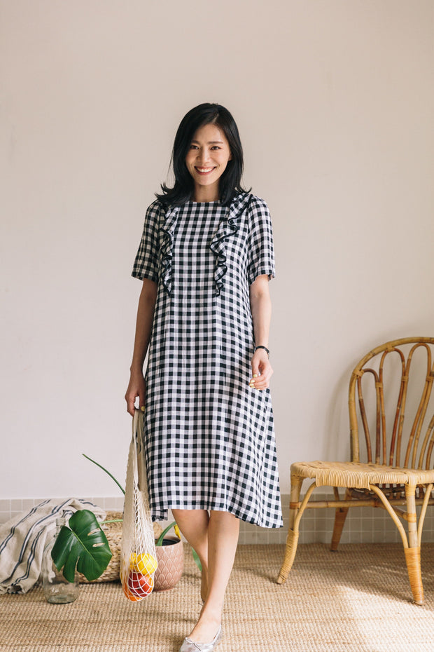 Ruffle Nursing Dress