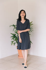 Button Down Nursing Dress