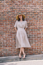 Lyocell Nursing Dress with Smocking