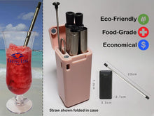 Load image into Gallery viewer, Foldable Metal Drinking Straw - Reusable & Eco-Friendly!-CruiseHabit