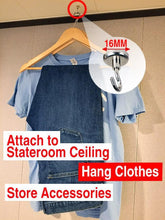 Load image into Gallery viewer, Strong Magnetic Hooks - Dry clothes in your cruise ship cabin and gain extra space - set of 4-CruiseHabit