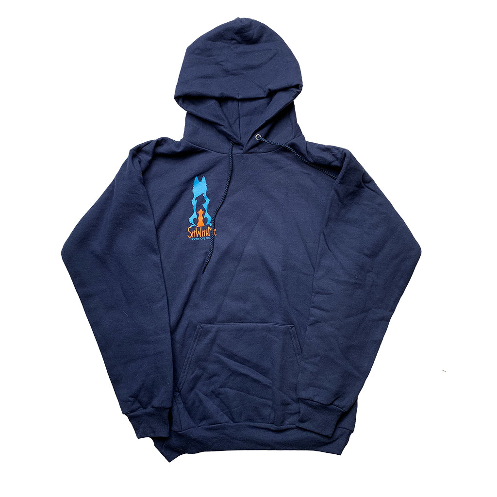 Blue Sit With Me Hoodie