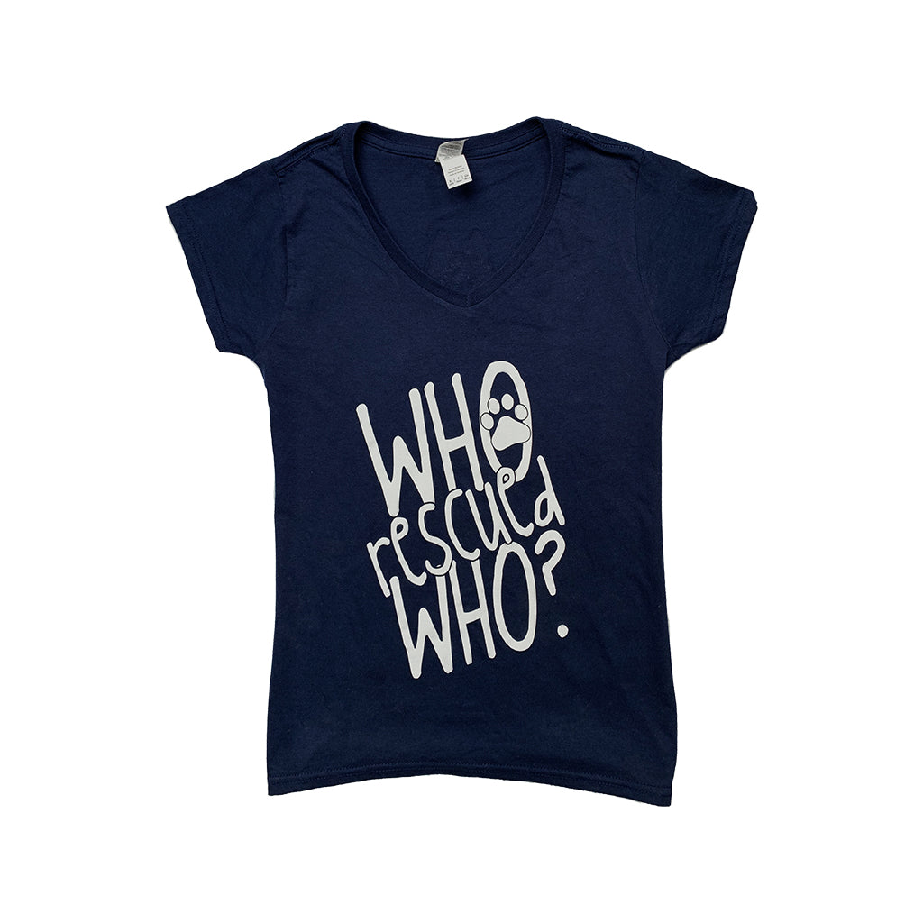 Who Rescued Who? Ladies V Neck