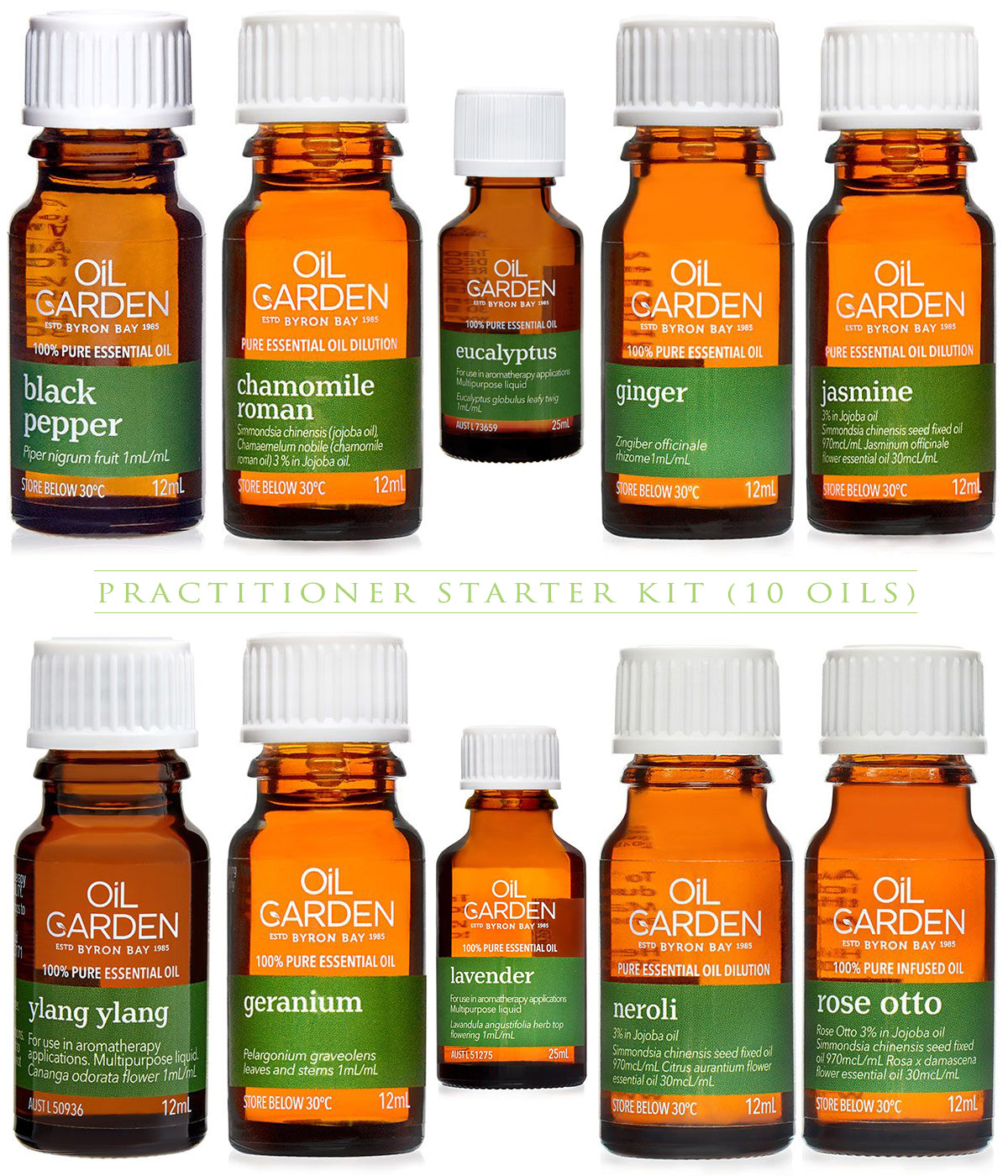 Practitioner Starter Kit - 10 Essential Oils