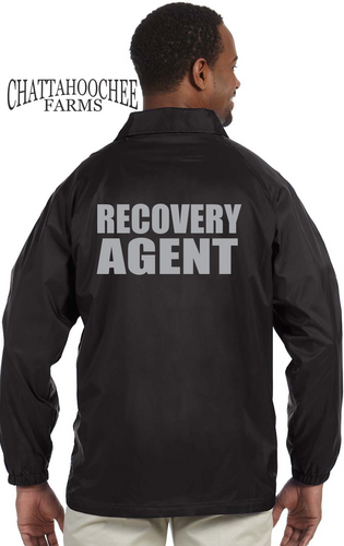 Repossession Agent Nylon Jacket - Reflective Letters - Chattahoochee Farms