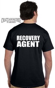Repossession Recovery Agent T-Shirt, Black with White Lettering - Chattahoochee Farms