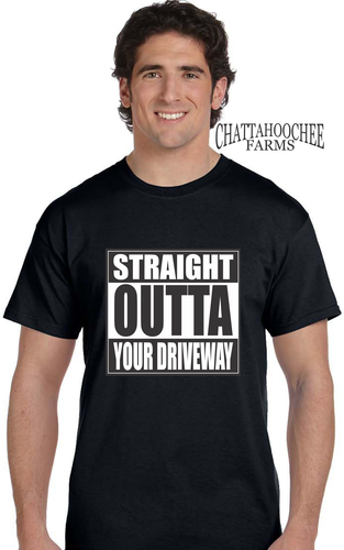 Straight Outta Your Driveway Repo T-Shirt - Chattahoochee Farms