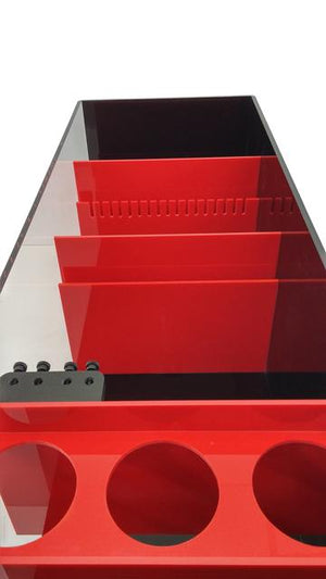 Acrylic Sump w/Refugium - Red and Black Acrylic