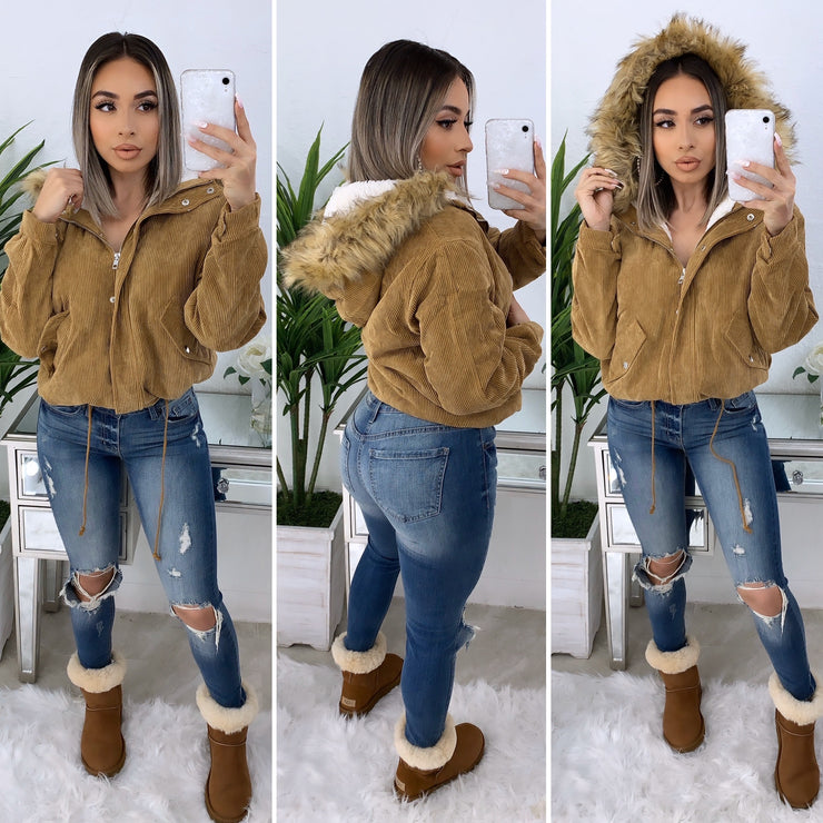 Like None Other Faux Fur Jacket (Camel)