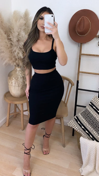 Brunch Run 2PC Set (Black)